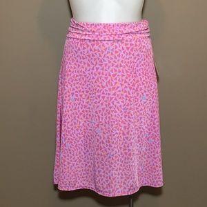 NWT LuLaRoe Azure Pink Triangle Skirt